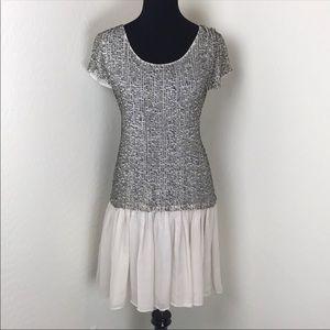 Alice+Olivia Embellished Ruffle Bottom Mora Dress